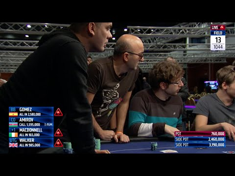 Four Way All In Poker Hand – Triple Bust-Out Bonanza at EPT Prague   PokerStars